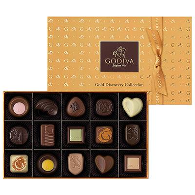 ◆〈ゴディバ〉ゴールド ディスカバリー コレクション(15粒入)